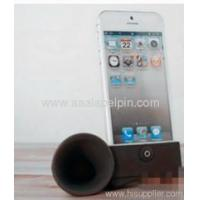 Buy cheap Black horn stand speaker/Silicone amplifier for iphone 5 5G from wholesalers
