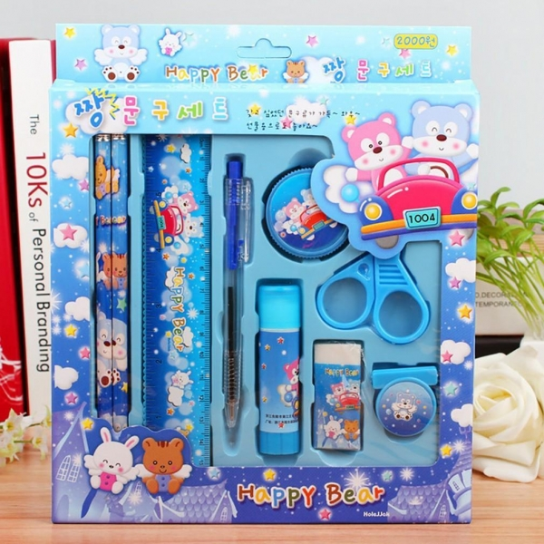 Buy Children's school supplies stationery set gift box at wholesale prices