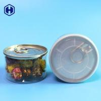 Quality Airtight Nitrogen Flush 90ML 100ML Mini Plastic Clear PET 3.5Gram Weed Herb Cans for sale