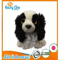 Quality Customized OEM promotion gift plush dog with tie for sale