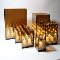 Buy cheap Infinity reflection mirror glass lanterns with led string lights from wholesalers