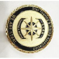 Brass Gold Customize Challenge Coins Souvenirs With Diamond Cut Edge