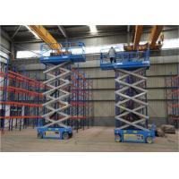 China Blue Color Mid Rise Scissor Lift , Low Profile Scissor Lift Smooth Running on sale