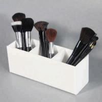 Buy cheap Acrylic 3 Compartment Makeup Brush Holder from wholesalers