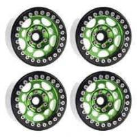 "Quality DJX 4PCS Metal 1.9"" Beadlock Wheel Rims for 1/10 Scale Rc Crawler Traxxas TRX-4 Axial Scx10 for sale"