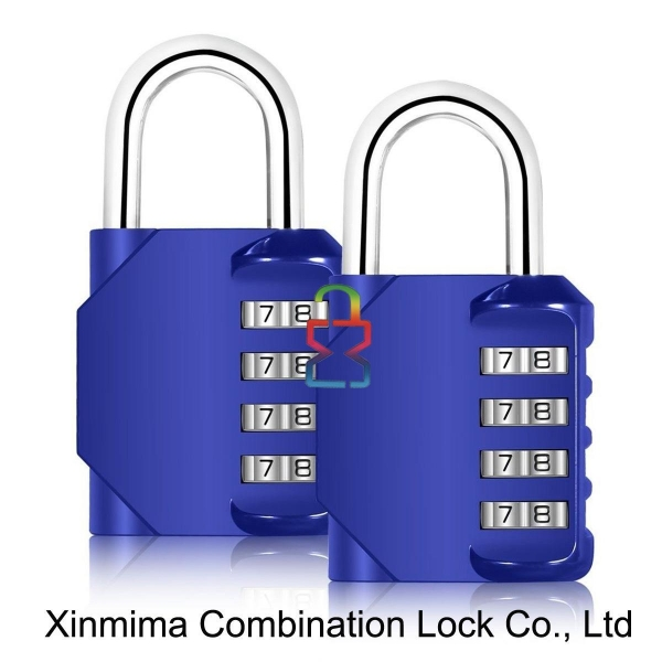 Buy 8023-4L blue combination lock padlock at wholesale prices