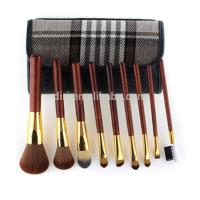 Buy cheap 10pcs Red wood Foundation Powder Contour Make Up Brush Set Kit from wholesalers