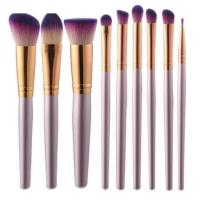 Buy cheap Professional 9 Pcs/set champagne color Mineral Makeup Brush Set from wholesalers