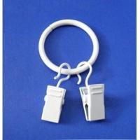 Quality Household products 40mm metal curtain ring with clip for sale