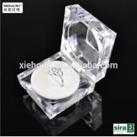 Quality Transparent acrylic square ring box for sale