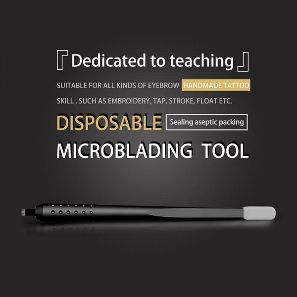 Buy U18 Eccentric Eyebrow Disposable Holder With Sponge Microblading Pen at wholesale prices