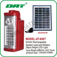 China AT-828T solar rechargeable emergency light LED home emergency light on sale