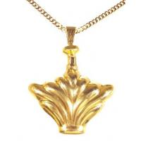 Buy cheap Extra Heavy Gold Fluted Fan Urn Keepsake Pendant from wholesalers