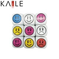 Quality toy series smiling face dice for sale
