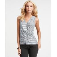 Buy cheap Tops & Tees Striped cross front sleeveless top from wholesalers