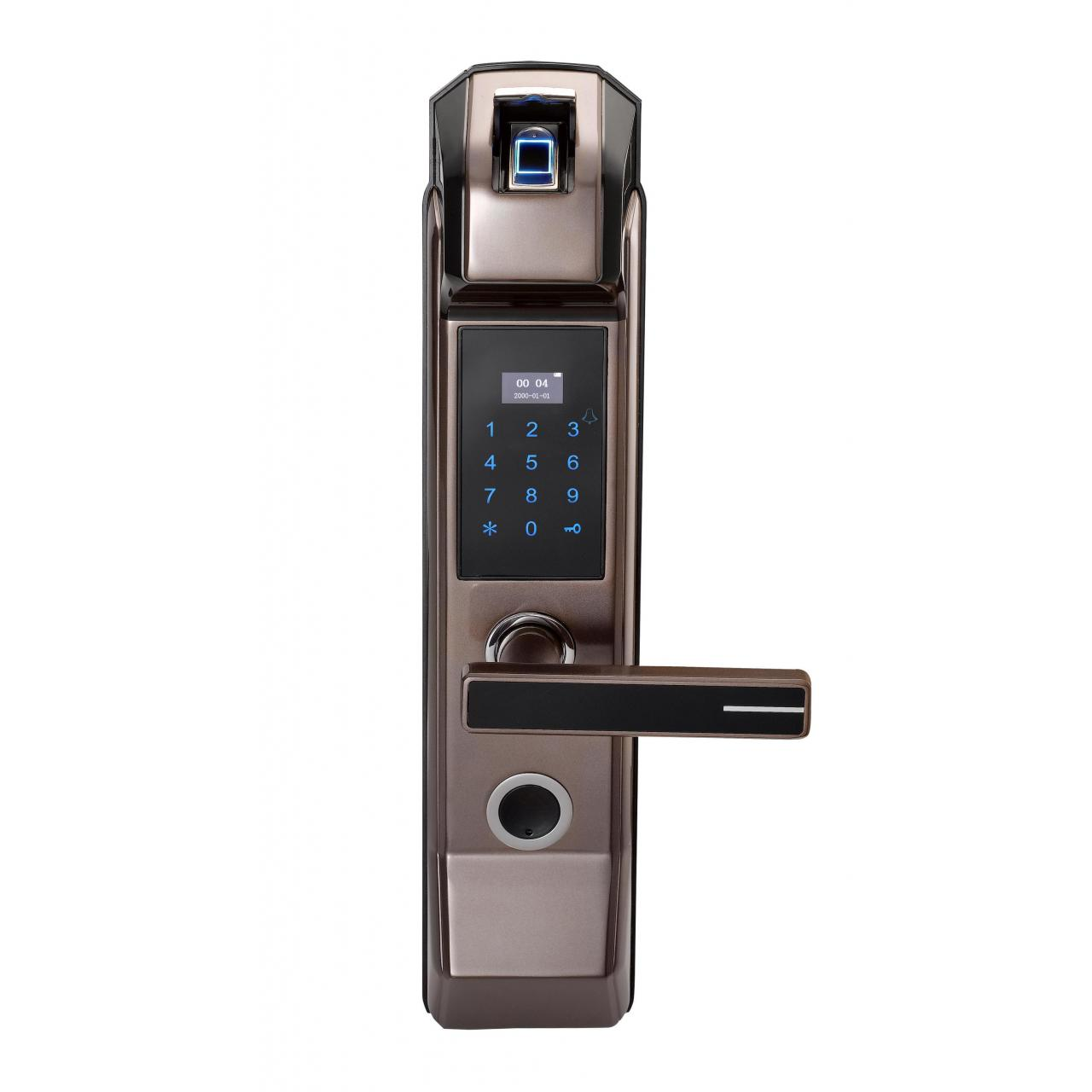 Quality S-FP2018 5 in 1 LED Display Fingerprint Home Door Lock for sale