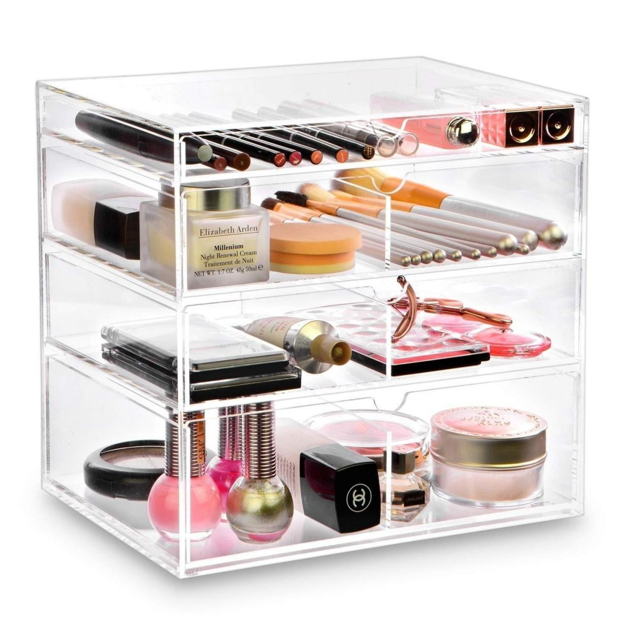 Quality Transparent Acrylic Jewelry Box With Drawer for sale