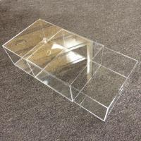 Quality Acrylic Large Shoe Display Box With Black Base for sale