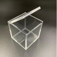 Quality Small Square Acrylic Ring Box With Lid for sale