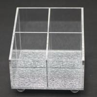 Quality 4 Compartments Clear Acrylic Cosmetic Eyeshadow Storage Organizer for sale