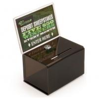Quality Countertop Black Acrylic Donation Suggestion Box for sale