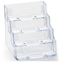Quality 4-Tiered Business Card Holder for Desktop Use - Clear DSN12252 for sale