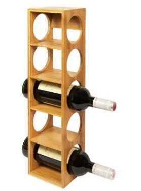Buy Woodluv Bamboo Stackable Wine Rack Stand Holder DSN12280 at wholesale prices