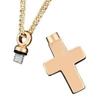 Buy cheap rose gold cross cremation pendant from wholesalers