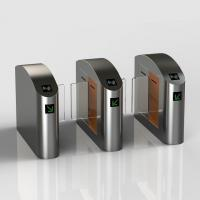 Quality New Style Stainless Steel Sliding Glasslane Turnstile with Card Reader Fingerprint Touch ID Reader for sale