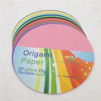 Quality origami paper & construction paper round color origami for sale