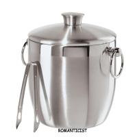Quality ROMANTICIST Stainless Steel Ice Bucket with Tongs, 3 L for sale