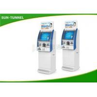 Quality OEM 19 Automatic Bill Payment Kiosk , Shopping Mall Cash Payment Machine for sale