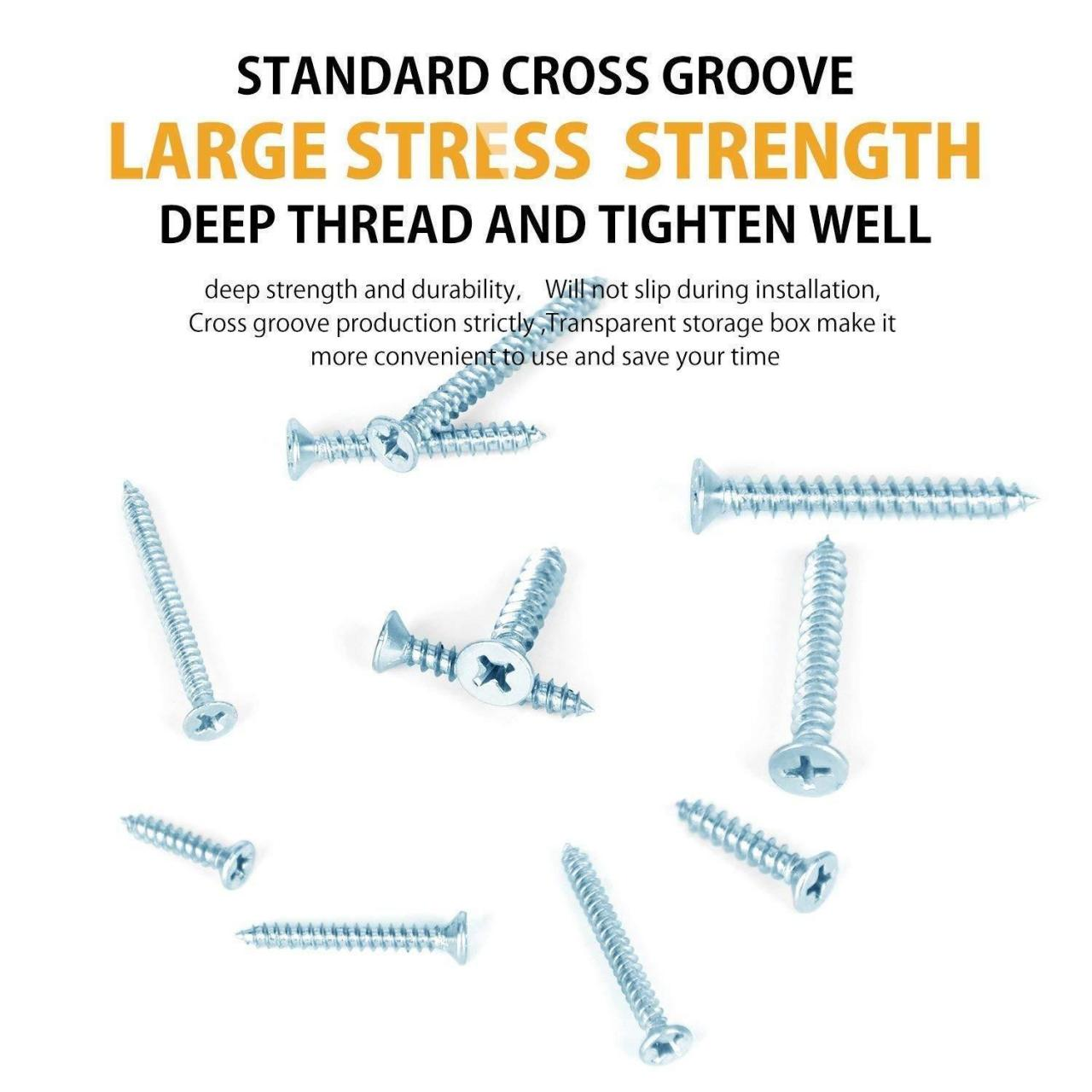 Buy cheap 220piece Stainless Steel Screw Round Flat Head Self Tapping Screw Assortment Kit M3 M4 M5 from wholesalers