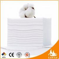Quality China factory high quality disposable spunlace nonwoven fabric cotton box facial tissue for sale