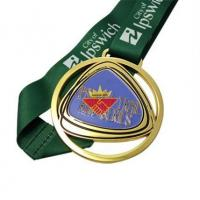 Buy cheap Medal Die Cut Design Gold Silver Bronze Medals from wholesalers