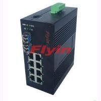 Buy cheap 10/100/1000M Industrial Fiber media converter with 8 RJ45 port + 2 Fiber port from wholesalers