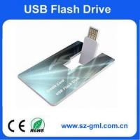 Buy cheap 1GB name card usb flash drive with customized logo from wholesalers