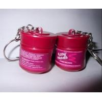Buy cheap Custom made plastic bottle shaped keychain,rubber bucket keyrings from wholesalers