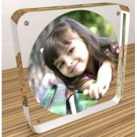 Buy cheap Clear acrylic magnetic photo frame 4x6,5x7,6x8,8x10 magnet frames from wholesalers