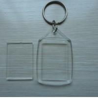 Buy cheap Acrylic plastic photo frame keychain 45x35mm blank keyring from wholesalers