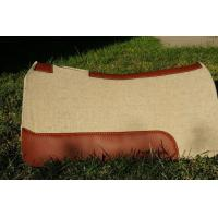 Buy cheap Horse equipment 1 inch thick pressed contoured western wool felt saddle pad for horses from wholesalers