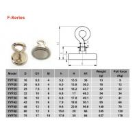 Buy cheap Neodymium hook magnets with eyelet (F series) from wholesalers