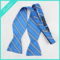 Buy cheap Striped Satin Blue Wedding Self Bow Tie from wholesalers