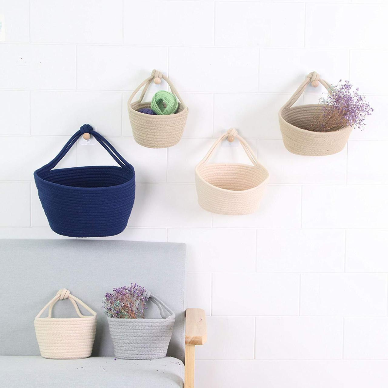 Buy cheap Storage Baskets Cotton Rope Over Wall Door Clo from wholesalers