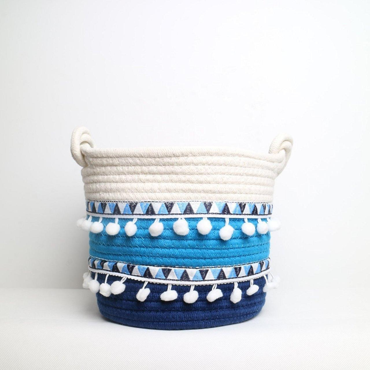 Buy cheap Storage Baskets Large Natural Cotton Woven Bas from wholesalers