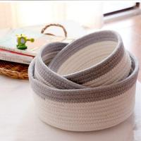 Buy cheap Storage Baskets Cotton Rope Storage Basket from wholesalers