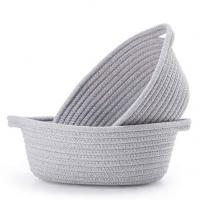 Buy cheap Storage Baskets Cotton rope Soft storage bins from wholesalers