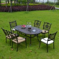 China Outdoor Dining Cast Aluminium Garden Furniture Dining Table and Chairs Item No.: PL-0044 on sale
