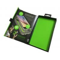 Custom clear pet gift box with printed suede foam for iphone case