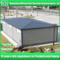 Quality Four slope luxury prefab house with metal engraving board and asphalt tile for sale
